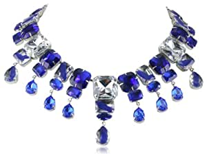 "nOir Jewelry Chrysler Waterfall Necklace, 17"""