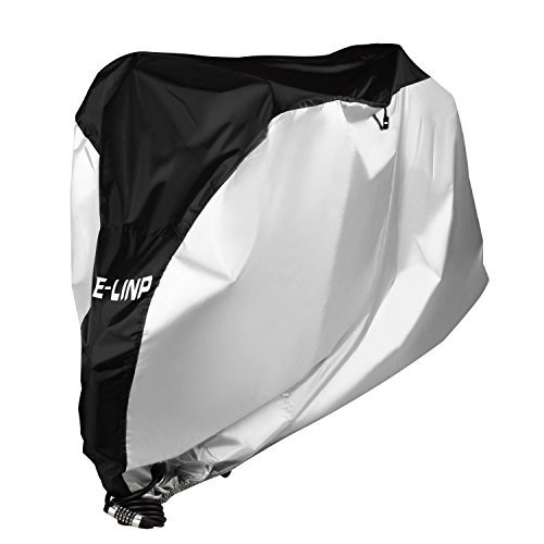 Bike Cover with Lock Hole, ELINP Outdoor Waterproof Bicycle Covers for Mountain Bike Stationary Bike and Road Bikes