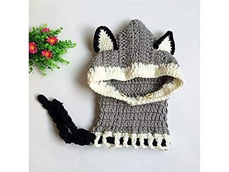 Bonnet Petit Bébé Fox style oreille tricoté garder au chaud chapeau  protéger oreille capuchon écharpe à aebd1f70fe5