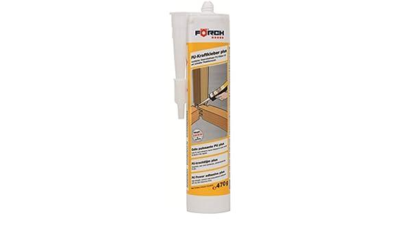 FÖRCH PU de fuerza adhesivo Plus 470 g cartucho DIN EN 204 D4 - hochfester, sin disolventes de poliuretano Adhesivo con muy rápido rekations Tiempo para ...