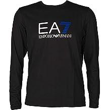 EA7 Emporio Armani Active Men's Train Logo Series Pop 7 Crew Neck Long Sleeve Shirt