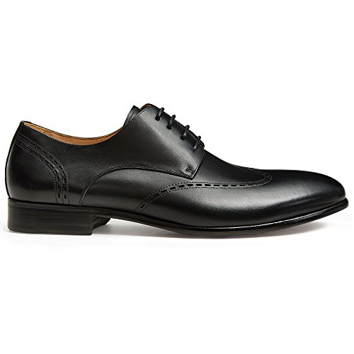 GIFENNSE Mens Lace Up Oxford Dress Classic Shoes Black m5D4a