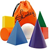 Skoolzy Jumbo Geometric Solids Math Manipulatives - 7 Large 3D Geo Shapes - Ease To Grab 1.5