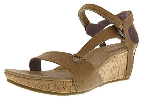 Teva Damen Capri Wedge Sandale Pearlized Tan