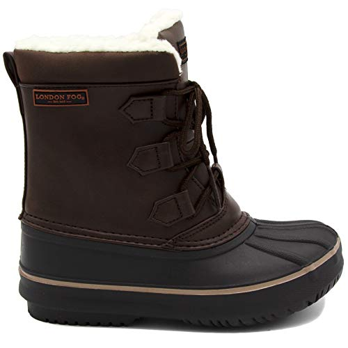 London Fog Boys Cheshire Cold Weather Snow Boot Brown 4 by London Fog (Image #1)