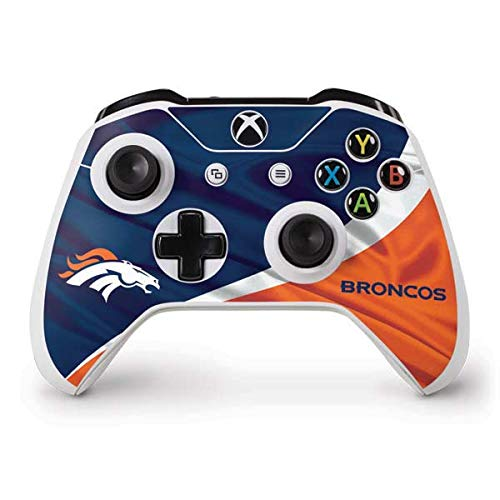 Skinit Denver Broncos Xbox One S Controller Skin - Officially Licensed NFL Gaming Decal - Ultra Thin, Lightweight Vinyl Decal Protection