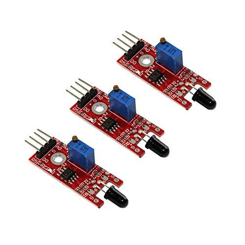 - HUABAN 3 Pack KY-026 Flame Sensor Module IR Sensor Detector for Temperature Detecting Suitable for Arduino