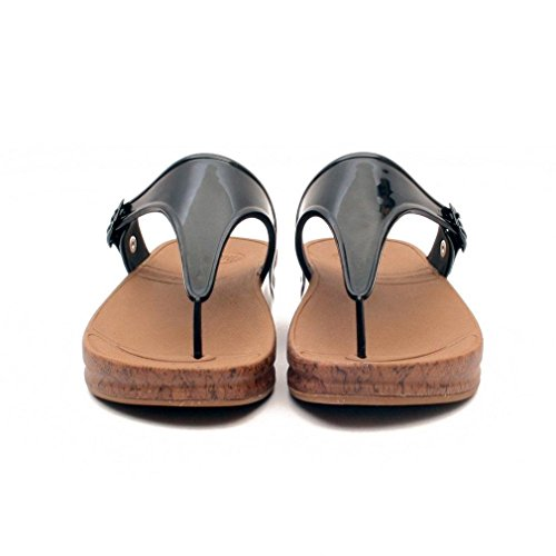 UK6 Fitflop Sandalias Superjelly Black Negro Corcho qg7OBIw