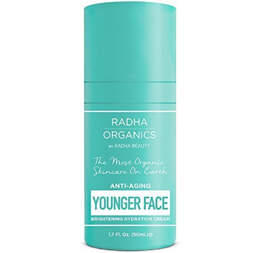 Radha Organics Facial Anti Aging Moisturizer, 100% Natural Face Moisturizing Cream for Sensitive, Oily or Severely Dry Skin - 100%Vegan, 100% Soy-free, Gluten-free, Non-GMO