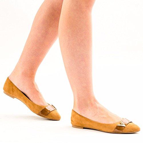 SnobUK - Ballet mujer marrón claro