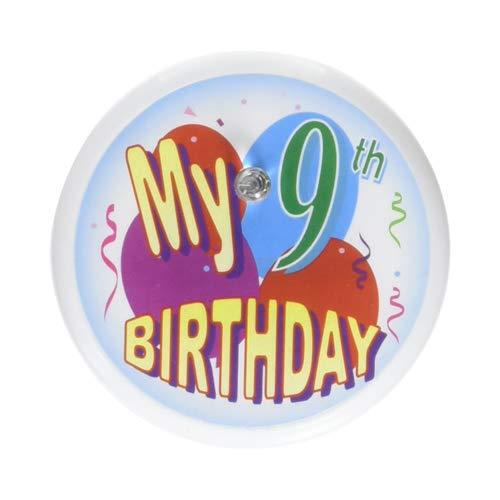 Beistle BL025 My 9th Birthday Blinking Button, 2-Inch]()