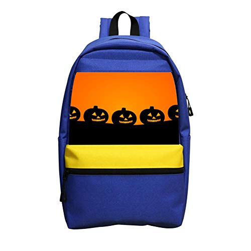 A Row Of Smiling Pumpkins Schoolbag Boys And Girls 1-6 Year Old Children Backpack -
