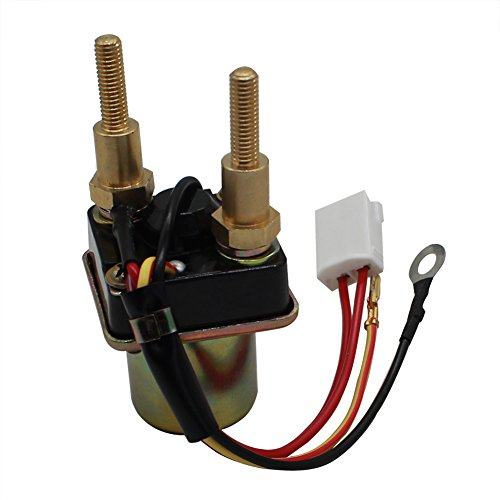 Cyleto Starter Relay Solenoid for KAWASAKI PWC JS 300 1986-1990 / JS300 SX 1987-1991 4-wire long bolts
