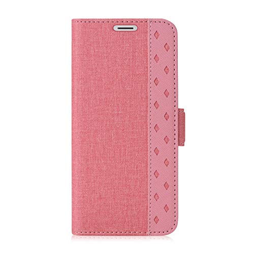 ProCase Galaxy S9 Plus Wallet Case, Folio Folding Wallet Case Flip Cover Protective Book Case Cover for 6.2 Inch Galaxy S9+ (2018 Release), with Card Slots and Kickstand - Pink
