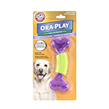 Arm & Hammer Ora-Play Nubbie Bone Dental Chew Toy for Dogs | Best Dog Chew Toy For the Toughest Chewers | Reduces Plaque & Tartar Buildup Without Brushing, Chicken Flavor