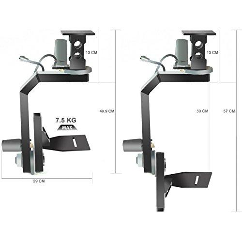 DVC 17612 PROAIM Motorized Pan/Tilt Head with Joystick Control for Video Production (Black)