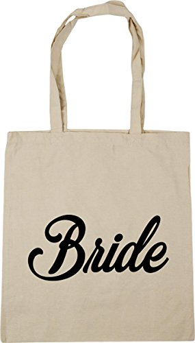 42cm x38cm Beach Gym HippoWarehouse Tote Bag Shopping 10 Bride Natural litres HfBRYqa
