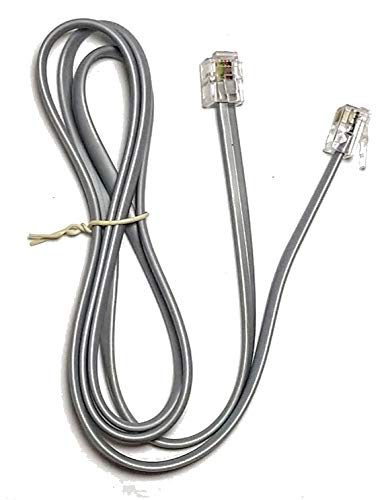 Telephone Line Cords (Silver Satin) 4 Conductor (3ft)