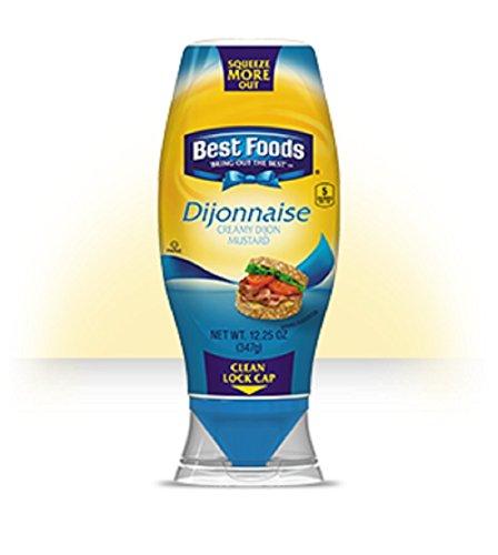 Best Foods, Dijonnaise, Creamy Dijon Mustard, 12.25oz Stand Up Bottle (Pack of 4)