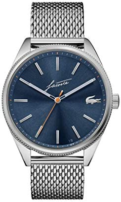 Lacoste Heritage men's watch with stainless steel strap, silver, 20 (model: 2011053)