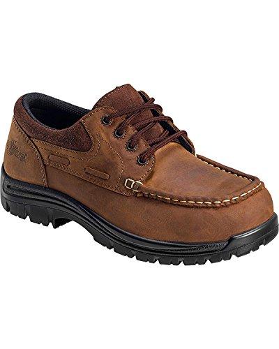 Nautilus 1826 Slip Resistant Comp Toe No Exposed Metal EH Moc Toe Oxford,Brown,13 W US ()