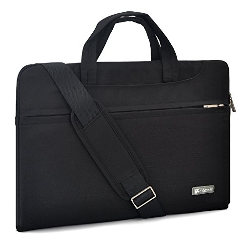YOUPECK 12 13 inch Laptop Case, Laptop Shoulder Bag, Waterproof Notebook Sleeve, Carrying Case With Strap for MacBook Air Pro 13.3 HP Stream Samsung Acer Asus Dell Lenovo Chromebook, Black (Best 12 Laptop Bag)