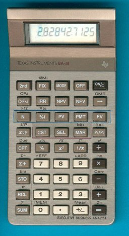 Texas Instruments BA-III Executive Business Analyst Calculator -VINTAGE & RARE-