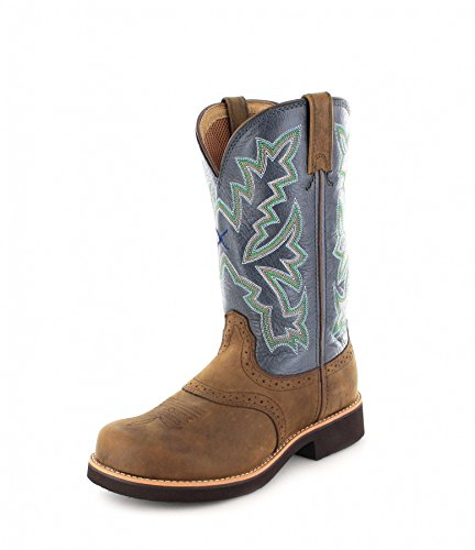 Barn Et Blue Twisted Bottes Femme Bottines Boots Cowboy Saddle X Burner ErEwxqFf