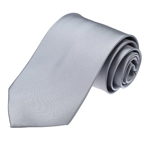 DAA3E01K Silver Grey Solid Woven Microfiber Tie Lowest Series Necktie Inspire For Boyfriend By Dan Smith