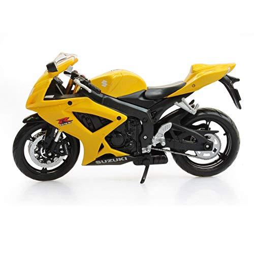 Greensun 1:12 Suzuki Suzuki GSX-R600 Motorcycle Alloy Model Black Yellow
