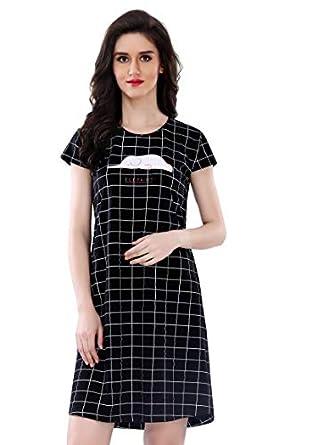 AV2 Women's Cotton Printed Night Dress (3088)