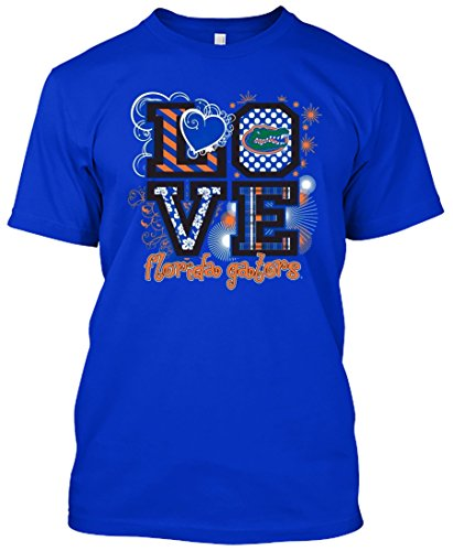 NCAA Love T-shirts - Alabama, Arkansas, Auburn, Clemson, Florida, FSU, Georgia, Kentucky, LSU, Mississippi St., Ole Miss, South Carolina, Tennessee, Texas A&M (Florida Gators, -