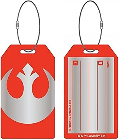 Star Wars Rebel Alliance Aluminum Bag Tag for Luggage (Star Wars Rebel Bag)