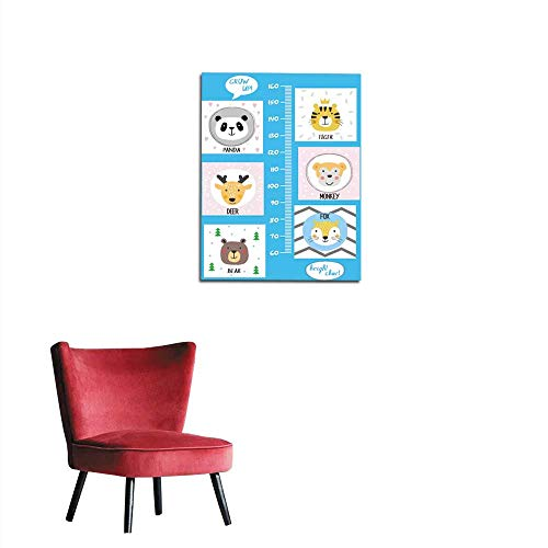Chart Bunny Height - longbuyer Mural Decoration Kids Height Chart Cute and Funny Animals Mural 24