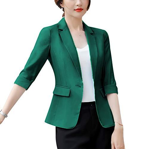 Womens One Jacket Button - Women's Casual Work Office Blaze Jacket One Button Jacket Slim Fit Blazers for Women