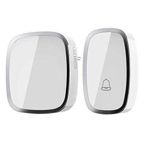 Kabellose Türklingel- iLOME Doorbell 36 Klingeltöne Lautstärke einstellbar Ringgröße einstellbare 1 Empfänger 1 Sender weiß