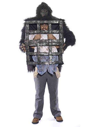 Forum Novelties Men's Gorilla with Cage, Multi, One Size
