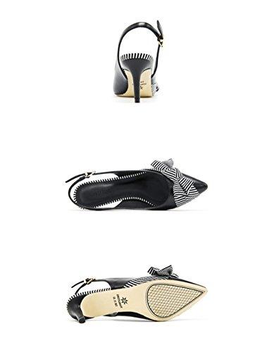 Shoes Charol de Tacones Altos de alta Heel Tacones fashion Clásicas elegantes vacía Tacones Sexy zapatos black mujer ElegantesSolo luz Ruanlei Altos la Mujer Cerrado 7Px11q