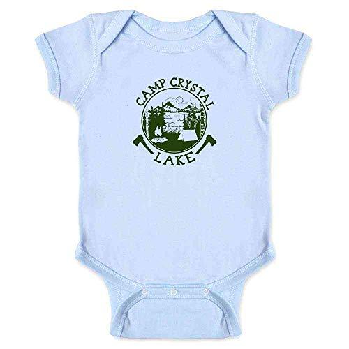 (Pop Threads Camp Crystal Lake Counselor Shirt Costume Staff Light Blue 12M Infant)