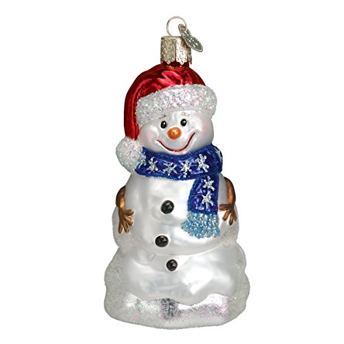 Amazon.com: Old World Christmas Ornaments: Happy Snowman Glass Blown ...