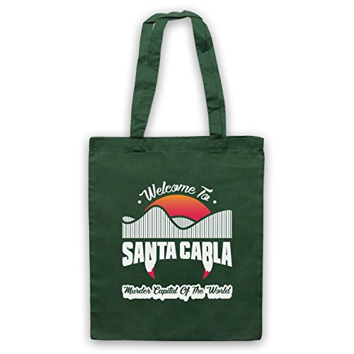 Inspired Apparel Inspired by Lost Boys Santa Carla Murder Capital Of The World Unofficial Tote Bag Dark Green