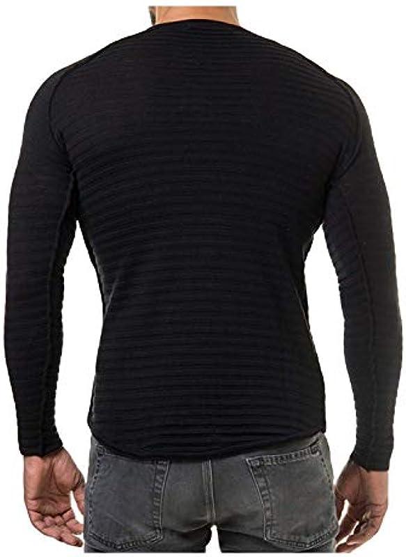Męski sweter Crew Neck Wiosna Knit moda męska jesień sweter dziergany Basic lakier standardowy długi rękaw okrągły dekolt sweter dziergany: Odzież
