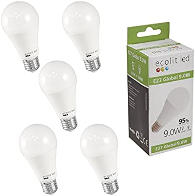 Pack A60 Led HalogèneChaud Ecolit® Ampoule K Blanc 2700 9w 806 Frosted E27 5 80w Lumen Equivalent Standard70w Lumineux qSUMpGLzV