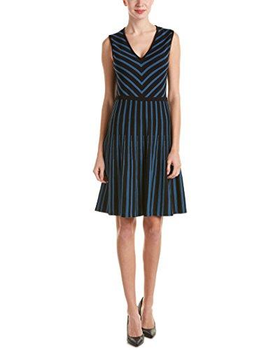 anne-klein-womens-vneck-fit-and-flare-sweater-dress-black-juniper-m