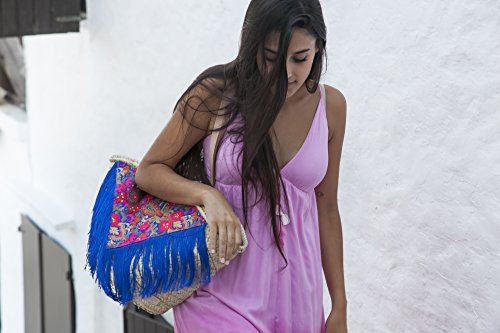 Menorca L Blue 016 15x25x50 à à pour Ansa Ansa per x porter l'épaule W H femme Sac cm x Bleu qwafH4SxUE