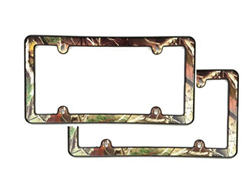 Unique Imports 2X Camouflage Hunting Nature Muddy Water License Plate Frame Camo