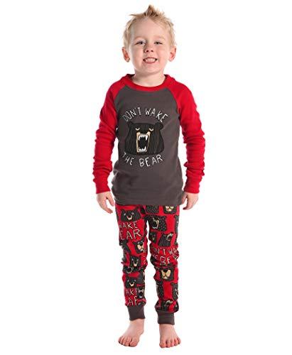 Don't Wake The Bear Kids Long Sleeve Pajama Sets by LazyOne | Fun Soft Animal Pajamas (10) -