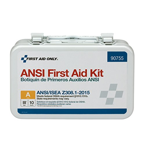(First Aid Only 90755 ANSI 2015 Compliant 10 Person Bulk Class A, Metal, Weatherproof )
