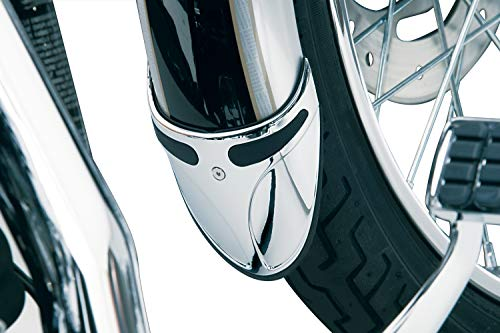 Kuryakyn Fender Tips - Kuryakyn 9016 Motorcycle Accent Accessory: Fender Extension on Narrow Front Fenders for Harley-Davidson Motorcycles, Chrome