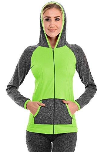 VIV Collection Women's Color Block Track Suit Activewear 41Fii0e 2BP5L